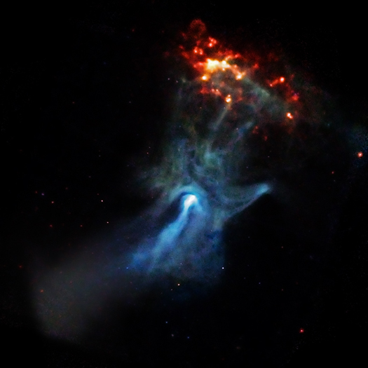 X-ray image of a pulsar